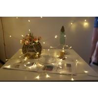Lichterkette Kupferdraht Leiste Lichter 20M für Weihnachten Warmweiss