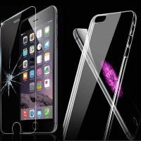 Silikonhülle TPU für iPhone 6 / 6S+ Displayschutzfolie Transparent