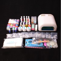 Nagelstudio Starter Set UV Gel Nagelset Nailart, UV Lampe UV Gel