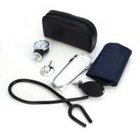 Blutdruckmessgerät mit Stethoskop, Pumpball für Arzt Blau Schwarz