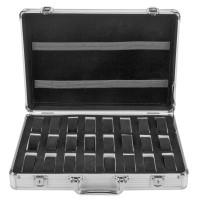 Uhrenbox Uhrenkoffer Schmuckkoffer Uhrenkasten f. 24 Uhren Aluminum