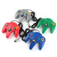 4 x Kontroller für Nintendo N64, Gamepad grün, blau, rot, grau