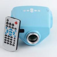 16W 1080P Mini LED Beamer Heimkino Projektor HDMI hellblau