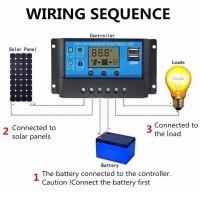 30A Solarladeregler Solar Panel Laderegler Intelligenz 12V-24V mit USB