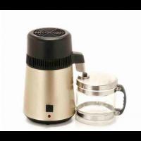 Wasser Destilliergerät 4L mit Edelstahgerätskörper Glasflasche gold