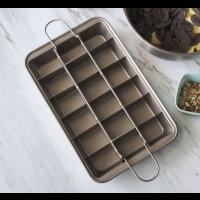 Kuchenform Brownie mit Trennwänden und Hebeboden eckiges Kuchenblech