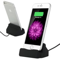 Dockingstation Ladestation für iPhone 5,6,iPod, 90cm Kabel, schwarz