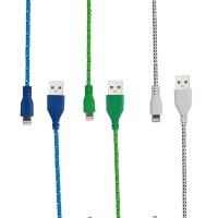 3 x USB Lightning Nylon Ladekabel 1m für iPhone SE 6S Grün Balu Weiss