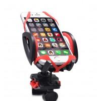 Handyhalter Fahrrad Halterung GPS iPhone Samsung Schwarz Rot