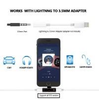 Lightning Kopfhörer Adapter Aux Splitter 2 in 1 iPhone 7/8/X schwarz