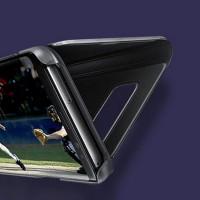 Spiegel Hülle Abdeckung Schutzhülle mit Ständer für Samsung S9 schwarz