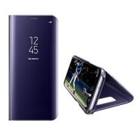 Spiegel Hülle Abdeckung Schutzhülle mit Ständer für Samsung S9 lila