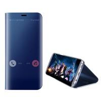 Spiegel Hülle Abdeckung Schutzhülle mit Ständer für Samsung S9 blau