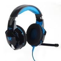 Kopfhörer USB Headset Stereo mit Microphone Stirnband Schwarz f. Spiel