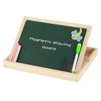 Magnetisches Holzpuzzle mit Doppelseitiger Tafel Holzspielzeug