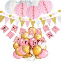 Geburtstag Geburtstagsdeko Dekoration 104er Set Zubehör Happy Birthday