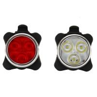 Scheinwerfer Fahrradlicht Frontlicht 2PCS LED Fahrrad Lampe Aufladbar