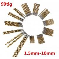 Spiralbohrer Metallbohrer Handspiralbohrer 99.tlg Bohrersets 1.5-10 mm