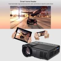 LED Beamer USB Projektor Heimkino Mini Multimedia 1080P Schwarz