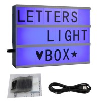 Lichtkasten Leuchttisch Leuchttablett Buchstaben LED Farbwechsel A4