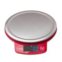 Küchenwaage Digitalwaage Rot 3000g/ 0.1g mit Tara-Funktion