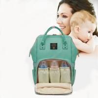Baby Wickeltasche Multitasche mit Wickelunterlage Reisetasche Grün