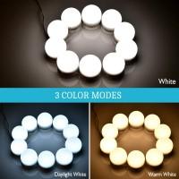 LED Spiegelleuchte Schminkleuchte Glühbirnen Hollywood Stil 10pcs Set