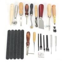 Leder Werkzeug Leather Nähen Craft Stitching 18 Lederhandwerkzeuge Set
