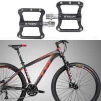 Fahrradpedale Mountainbike Metall Pedale Rennrad schwarz 9/16 Zoll