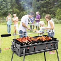 Grillspiess Drehspiess BBQ Set mit 2 Fleischnadeln inkl. Motor 4W