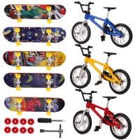 8pcs Mini Fingerspielzeug Set Finger Skateboards Finger Fahrrad Roller