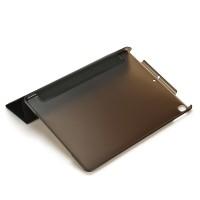 Schutzhülle PU Tasche mit Transluzent Rücken Deckel für iPad 7 10.2