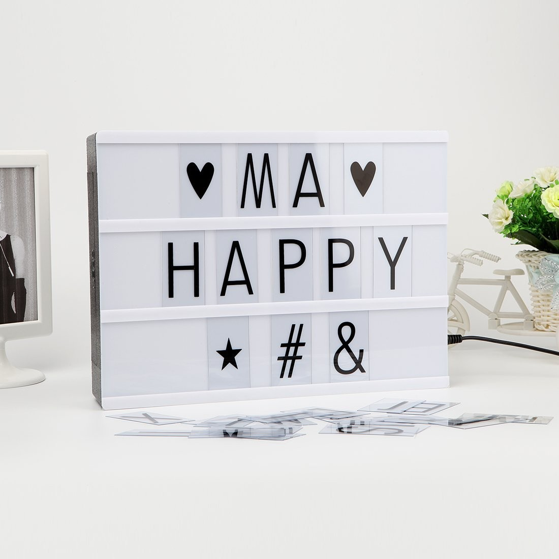 leuchtkasten led lightbox 22 x 30cm 85 buchstaben a4 lovely kaufen. Black Bedroom Furniture Sets. Home Design Ideas
