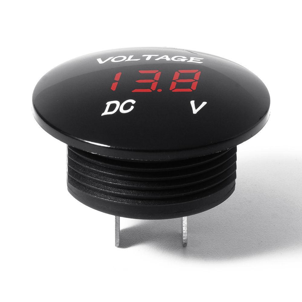 voltmeter dc panelmeter led spannungsanzeige f auto. Black Bedroom Furniture Sets. Home Design Ideas
