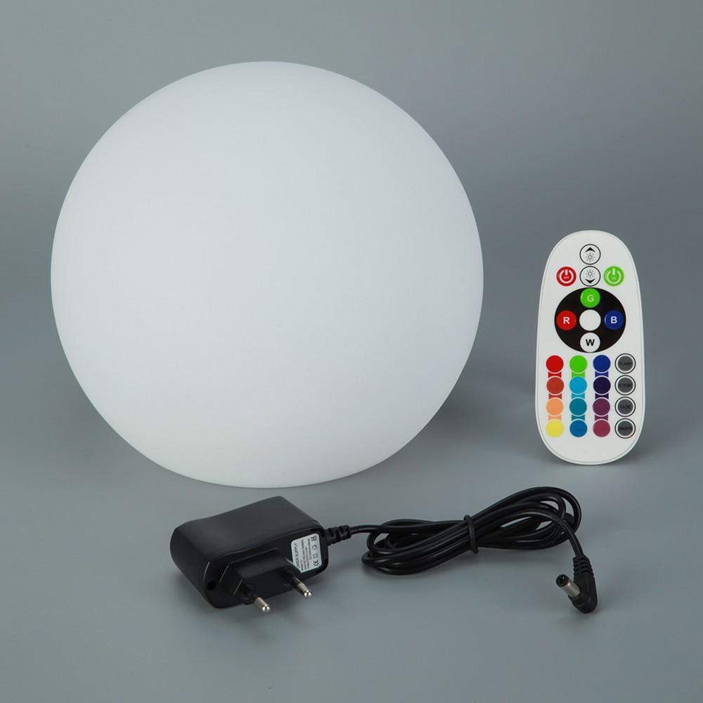 led leucht kugel 20cm mit fernbedienung farbwechsel lampe kugel runde garten lampe au en licht. Black Bedroom Furniture Sets. Home Design Ideas