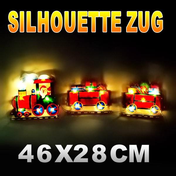 Frohe weihnachten silhouette 20er lichter 3er zug - Lightbox weihnachten ...