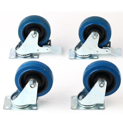 4 st ck lenkrollen 100 mm lenkrollen mit feststeller 100. Black Bedroom Furniture Sets. Home Design Ideas