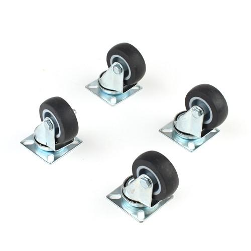 4 st ck lenkrollen f r m bel mit anschraubplatte kugellager 50 mm. Black Bedroom Furniture Sets. Home Design Ideas