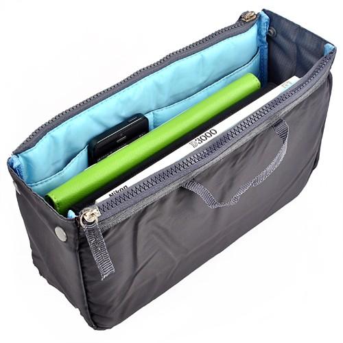 innentasche f r handtasche organizer 30cm blau. Black Bedroom Furniture Sets. Home Design Ideas