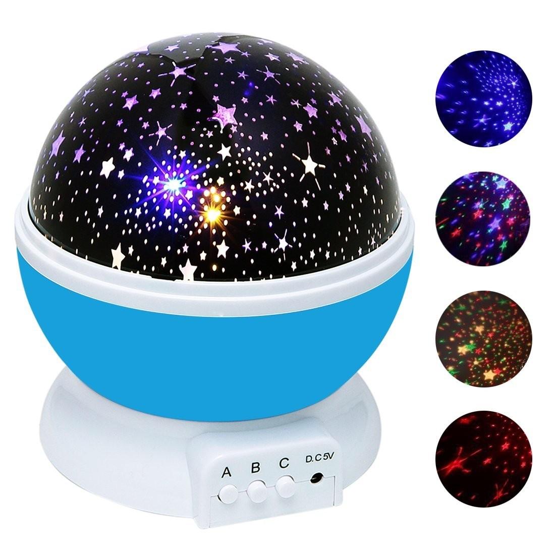 sternenhimmel stern projektor nacht lampe licht projektion 360 grad. Black Bedroom Furniture Sets. Home Design Ideas