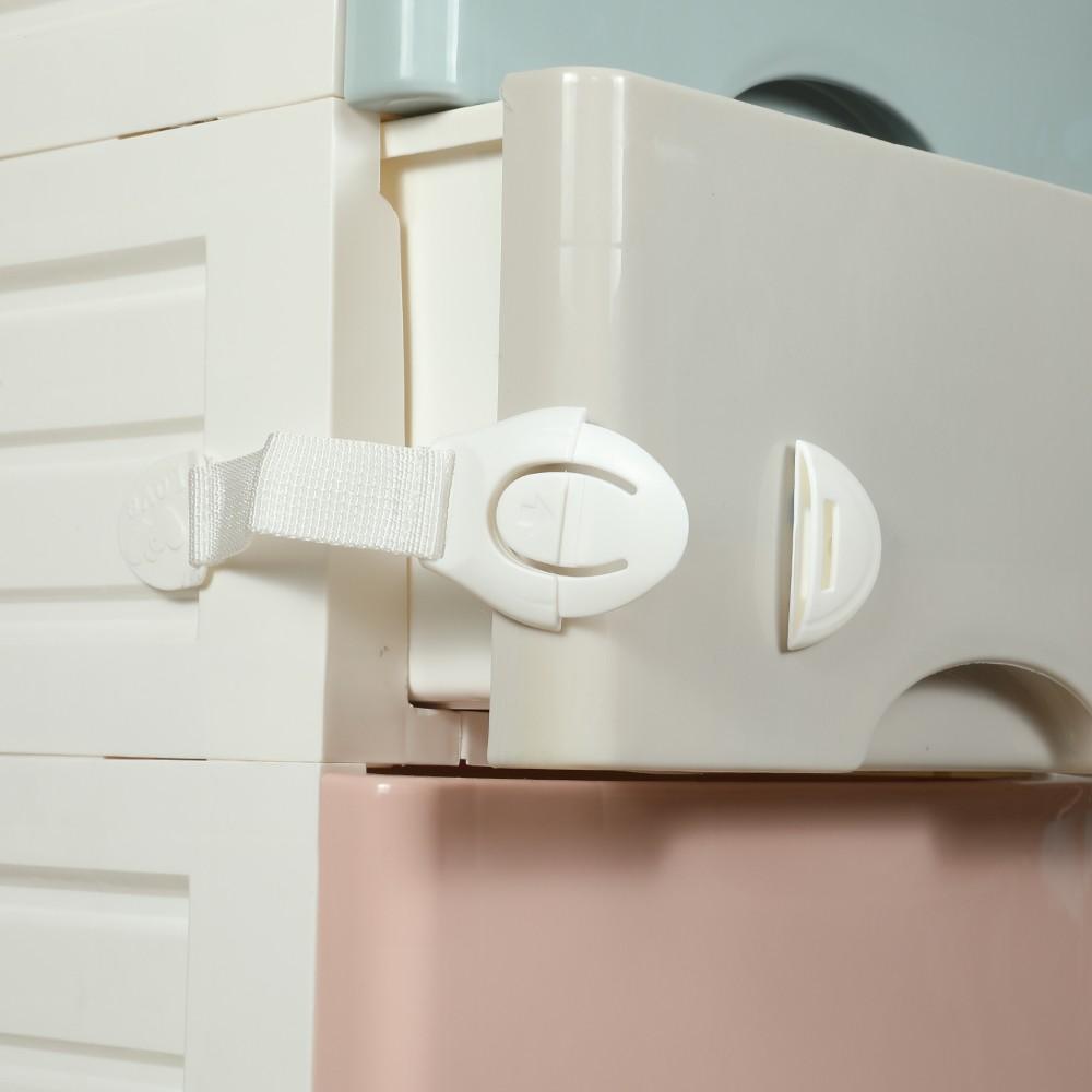 20er kindersicherung f r schubladen und schr nke ecke schl sser wei. Black Bedroom Furniture Sets. Home Design Ideas
