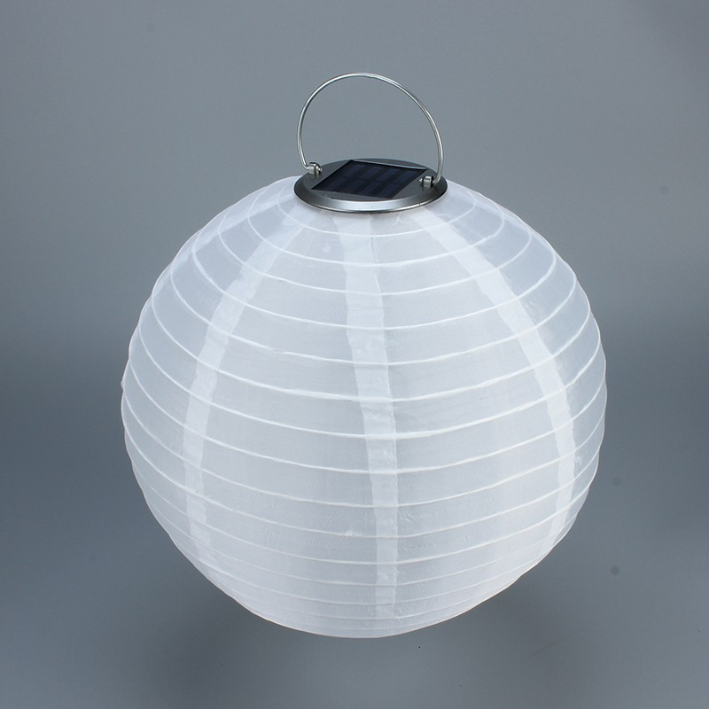 led lampion solar latern nylon wasserfest weiss. Black Bedroom Furniture Sets. Home Design Ideas
