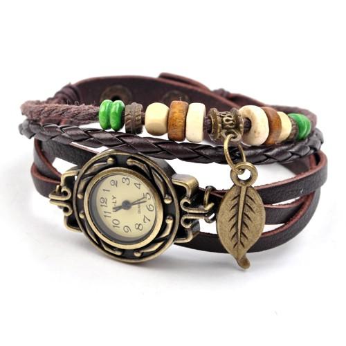 modische uhren damen armbanduhr damenuhr armreif leaf. Black Bedroom Furniture Sets. Home Design Ideas