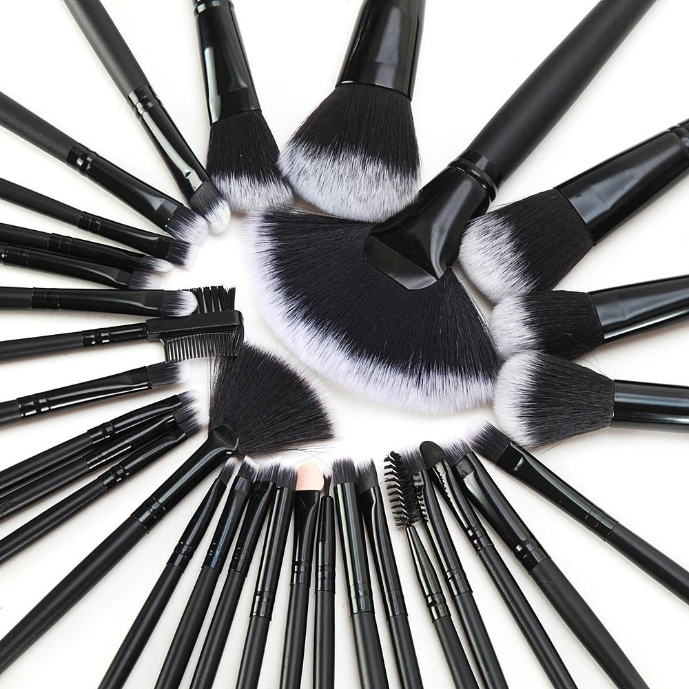 32 tlg pinselset make up pinsel schmink schweiz schwarz kaufen. Black Bedroom Furniture Sets. Home Design Ideas