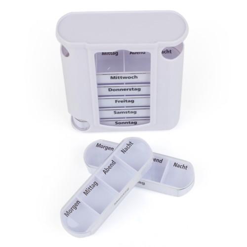 medikamentenbox 7 tage g nstig tablettenbox je mit 4 f cher. Black Bedroom Furniture Sets. Home Design Ideas