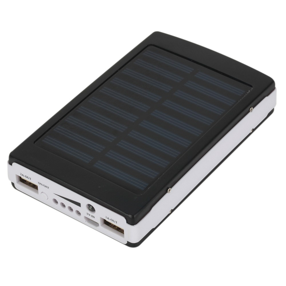 solar power bank ladeger t batterie akku 20000mah schwarz mit 5 adapter iphone samsung kaufen. Black Bedroom Furniture Sets. Home Design Ideas