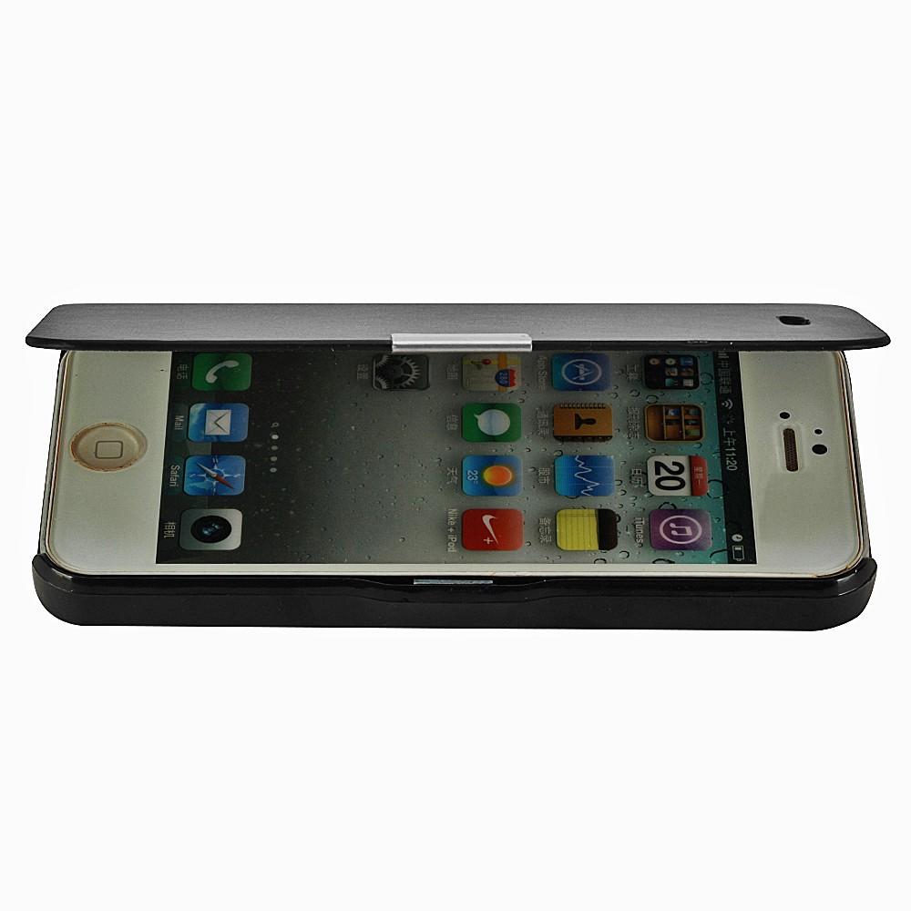 iphone 5 5s se flip cover etui tasche apple h lle schwarz. Black Bedroom Furniture Sets. Home Design Ideas